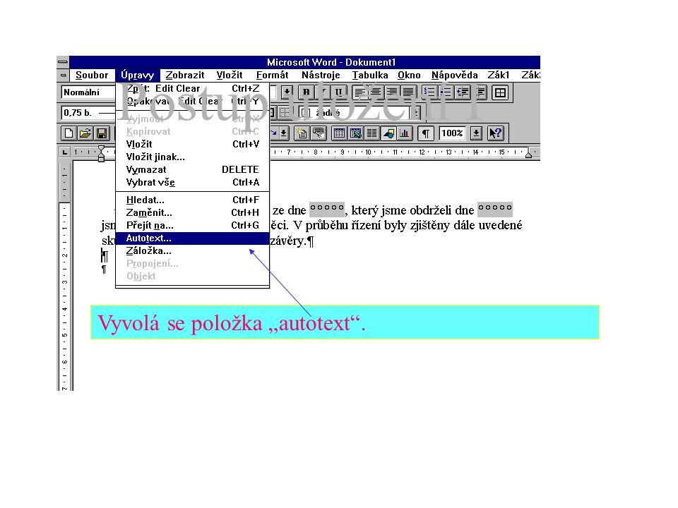 """Nejdříve se napíše vzorový text (úvodního odstavce) dopisu (odpovědi) Potom se do něho doplní (formulářová) pole pro """"proměnné ."""