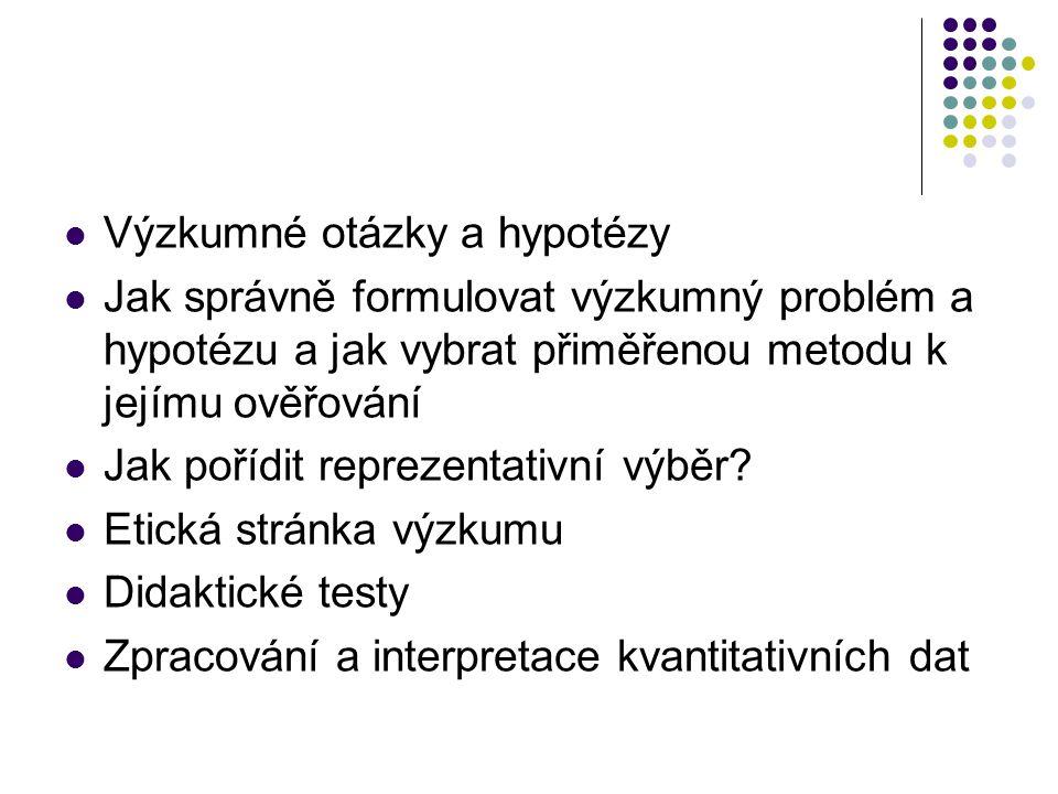 Kvantitativní metody výzkumu: Pozorování a jeho metody (např.