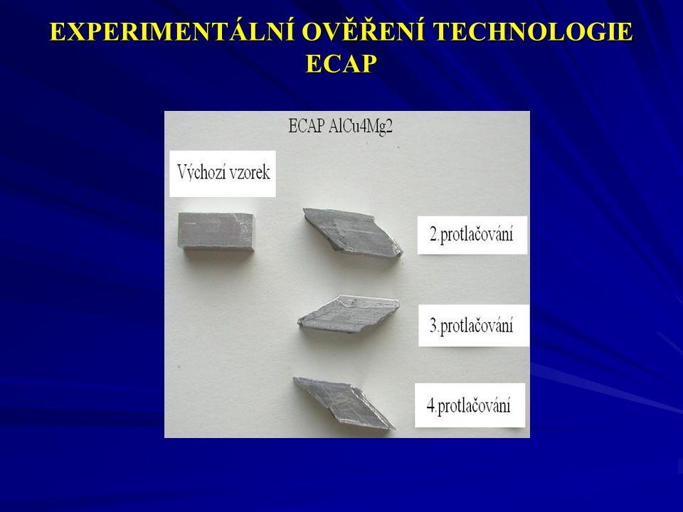 EXPERIMENTÁLNÍ OVĚŘENÍ TECHNOLOGIE ECAP