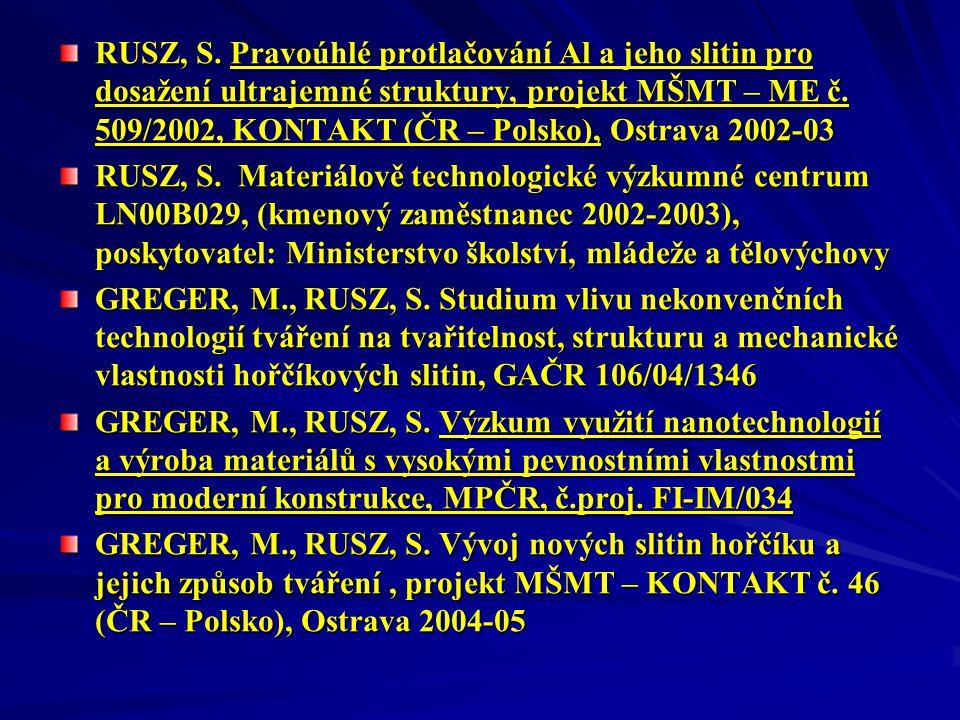 RUSZ, S.