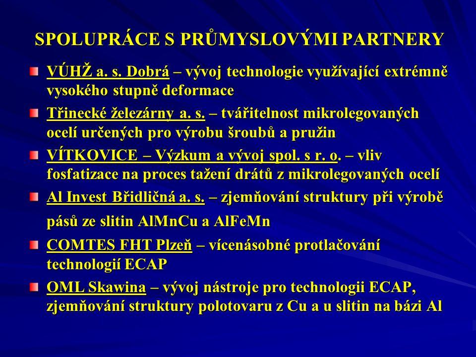 SPOLUPRÁCE S PRŮMYSLOVÝMI PARTNERY VÚHŽ a.s.