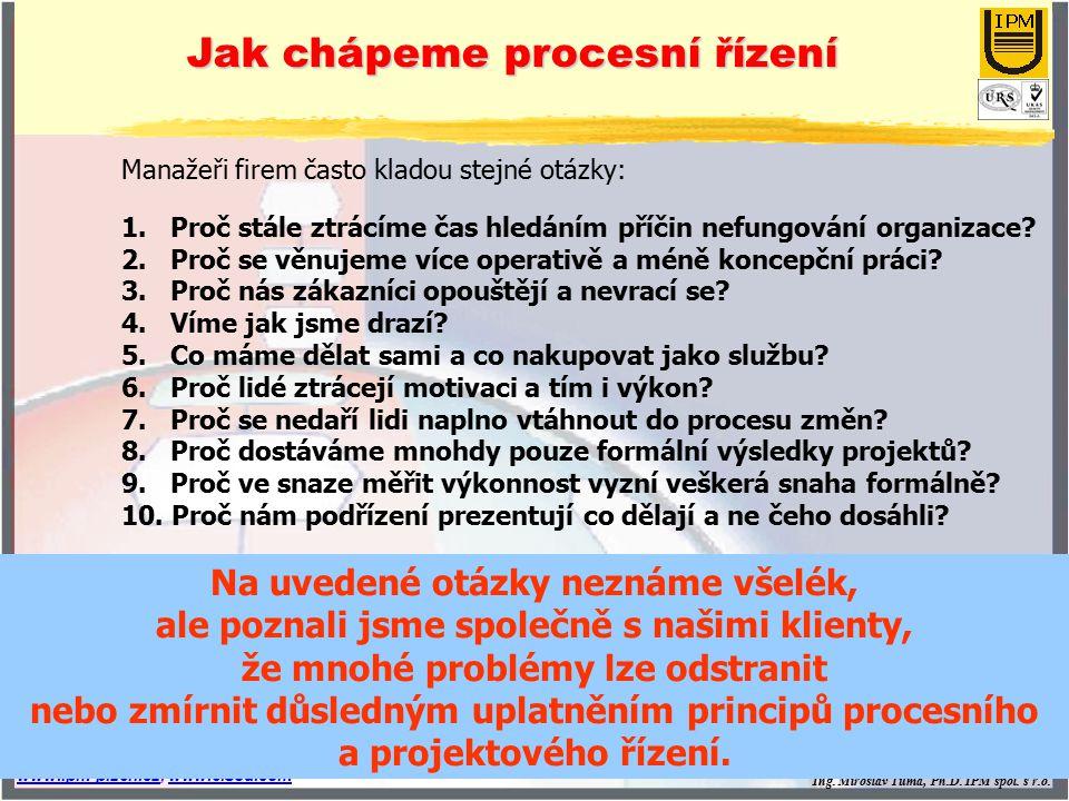 Ing. Miroslav Tůma, Ph.D. IPM spol. s r.o. www.ipm-plzen.czwww.ipm-plzen.cz, www.eisod.comwww.eisod.com slide 3 Manažeři firem často kladou stejné otá