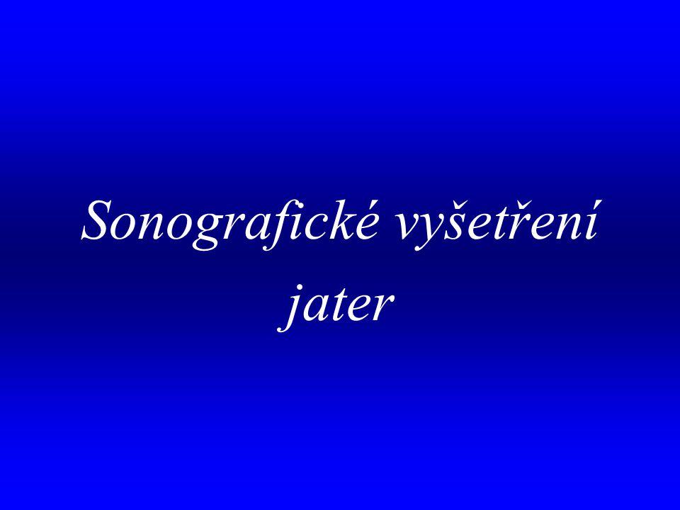 aa Sonografické vyšetření jater