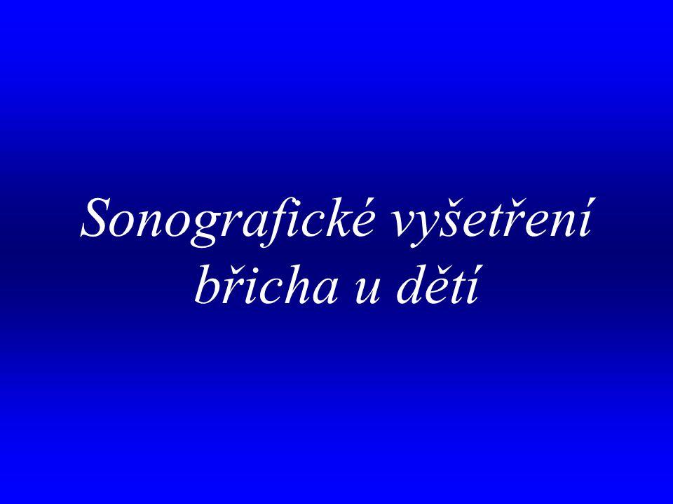 aa Sonografické vyšetření břicha u dětí