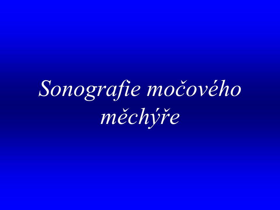 . Sonografie močového měchýře