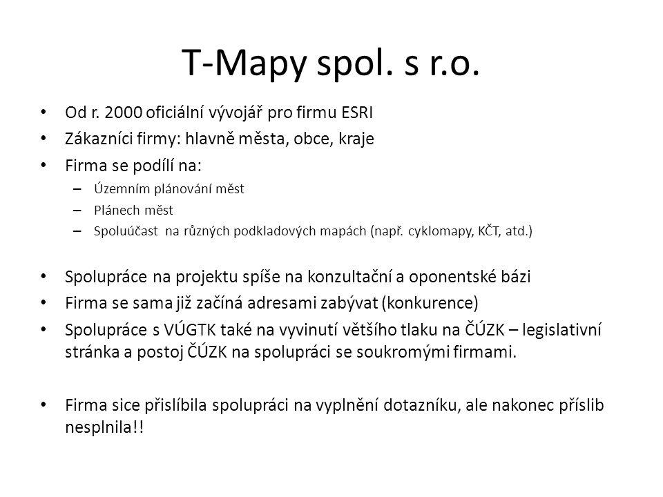 T-Mapy spol. s r.o. Od r.