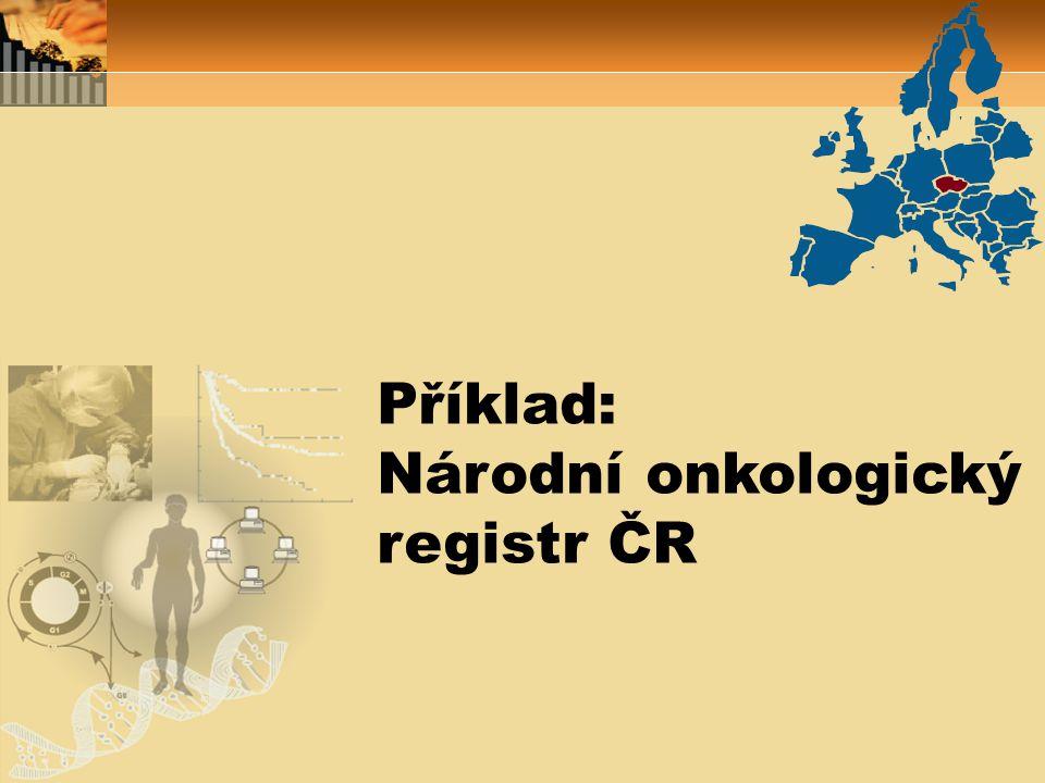 www.svod.cz Kompletní databáze NOR: www.uroweb.cz Urologické malignity: www.rektum.cz Nádory kolorekta: Dostupnost dat NOR on-line: národní portály