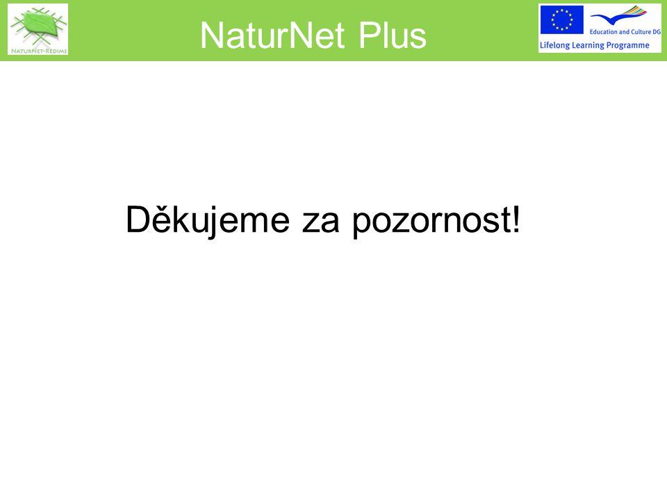 NaturNet Plus Děkujeme za pozornost!