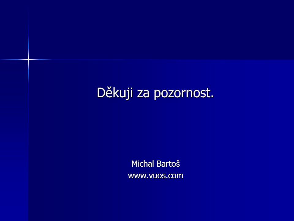 Děkuji za pozornost. Michal Bartoš www.vuos.com