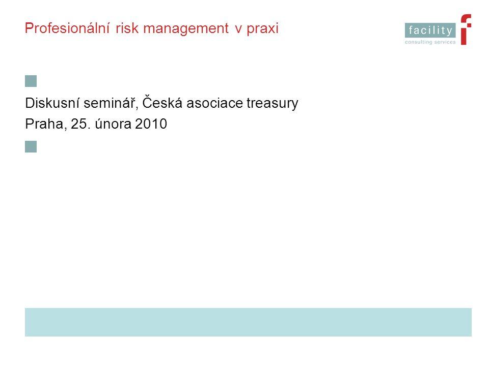 Profesionální risk management v praxi Diskusní seminář, Česká asociace treasury Praha, 25. února 2010