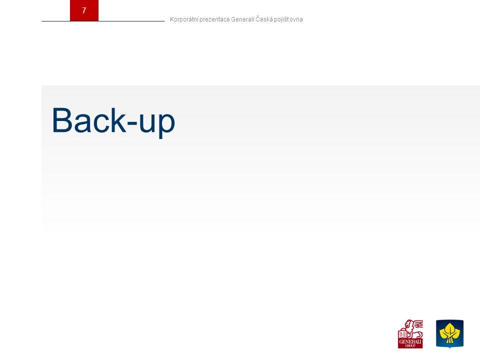 7 Back-up Korporátní prezentace Generali Česká pojišťovna