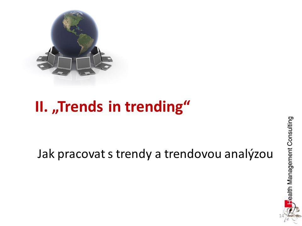 "14 II. ""Trends in trending"" Jak pracovat s trendy a trendovou analýzou"