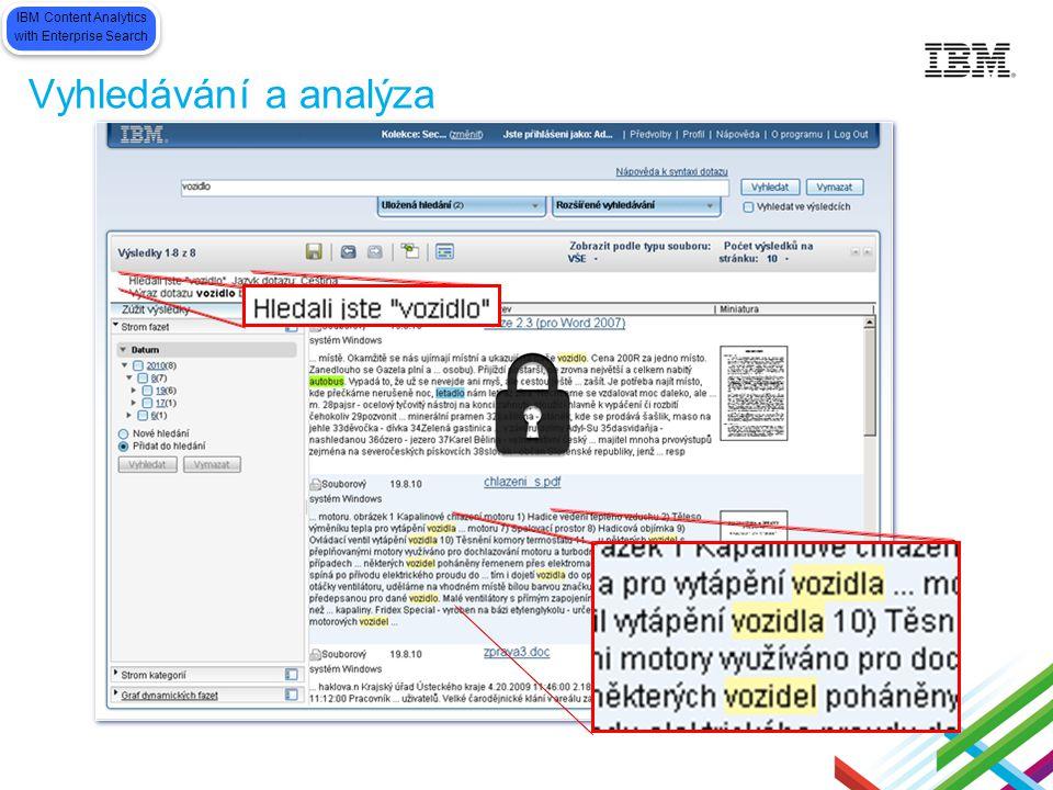 Vyhledávání a analýza DMS IBM Content Analytics with Enterprise Search IBM Content Analytics with Enterprise Search