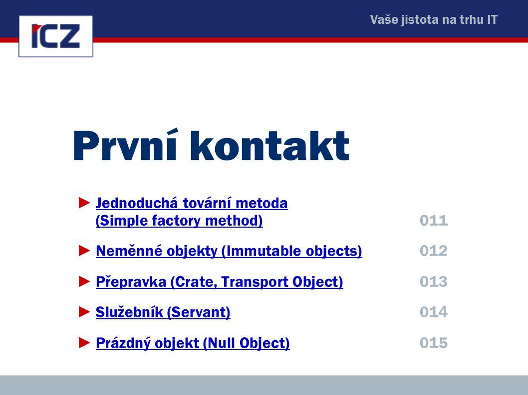 ICZ Copyright © 2009, Rudolf Pecinovský 97 Virtuální zástupce (virtual proxy) ►Použijeme jej, když je vytváření objektu drahé a objekt ve skutečnosti není potřeba od začátku celý ►Zástupe vytvoří zastupovaný objekt (např.