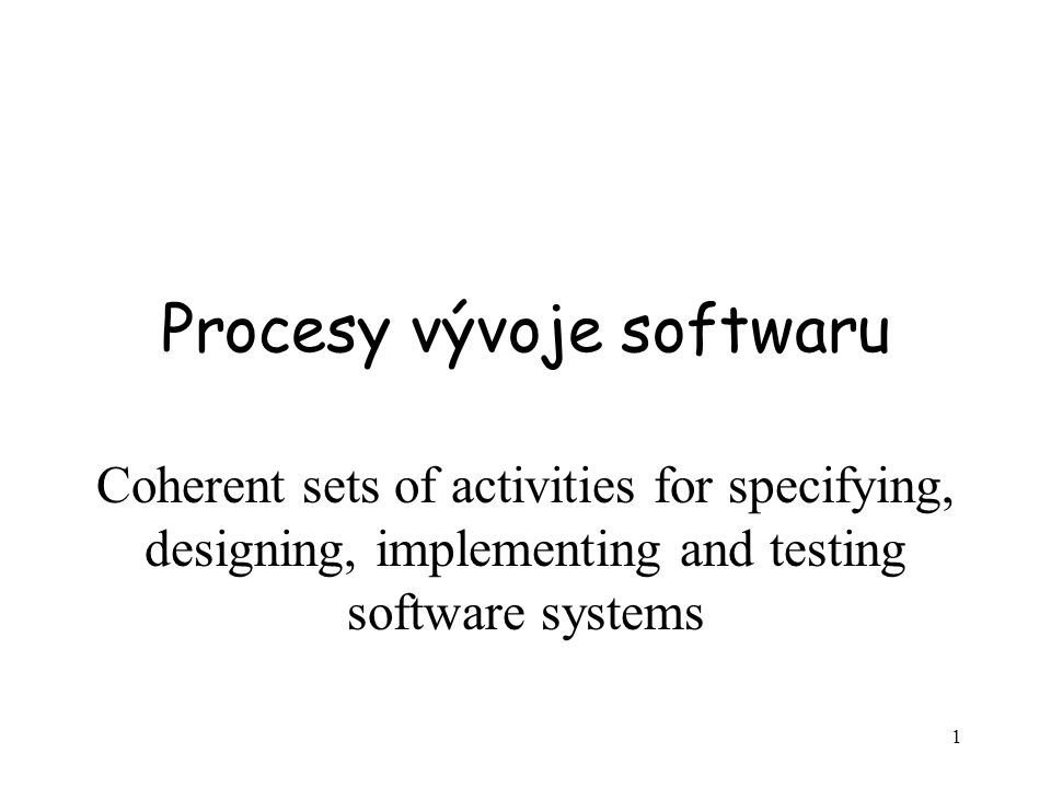 42 Prostředky popisu procesů Kromě různých diagramů, mnoho z nich je převzato z UML se pro definici procesů používají dialekty vybudované nad UML –Jazyky pro popis business procesů jako je BPDL, jazyk pro bussiness rules a jazyky pro definici pracovních toků.
