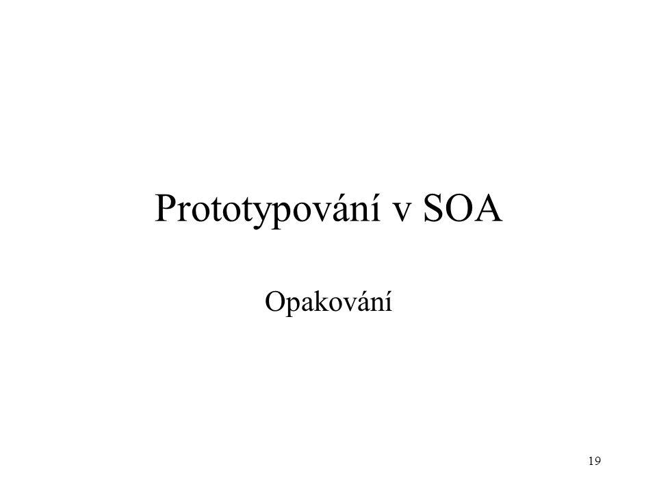 Prototypování v SOA Opakování 19