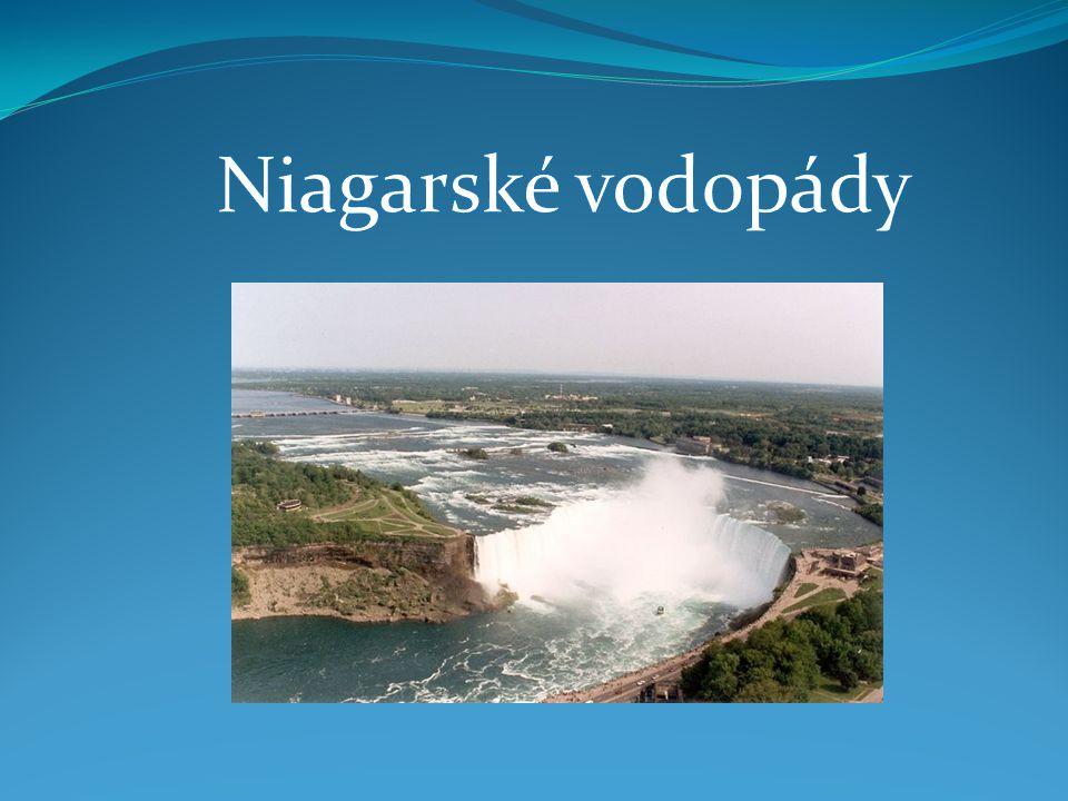  Niagarské vodopády (anglicky Niagara Falls) je označení pro několik vodopádů na řece Niagara, která vytéká z Erijského jezera a vtéká do jezera Ontario.