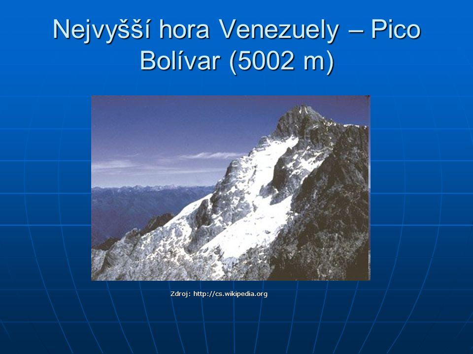 Stolové hory (tepuyes) Kukenan Tepuy Zdroj: http://en.wikipedia.org