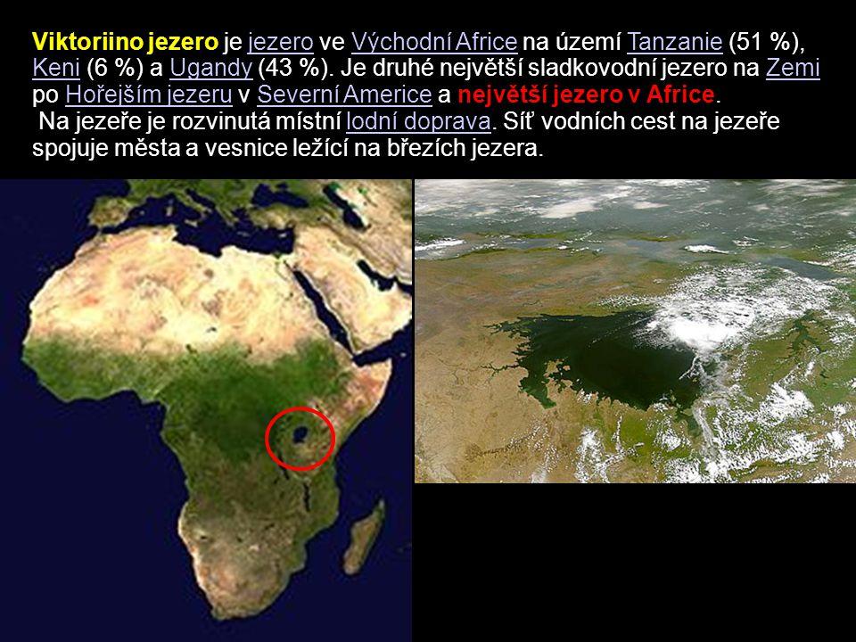 Viktoriino jezero je jezero ve Východní Africe na území Tanzanie (51 %), Keni (6 %) a Ugandy (43 %). Je druhé největší sladkovodní jezero na Zemi po H