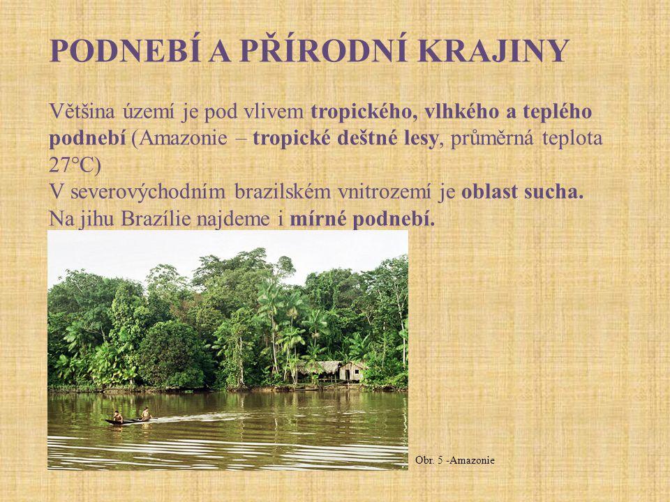 VODSTVO Amazonka – největší povodí na Zemi (7 mil.