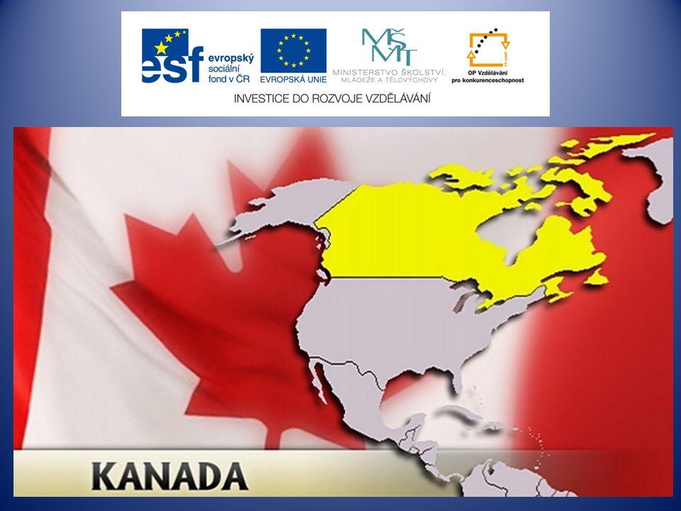 Kanada Canada hlavní město: Ottawa počet obyvatel: 32,5 mil úřední jazyk: angličtina, francouzština měna: kanadský dolar státní zřízení: federativní konstituční monarchie list – leaf javor - maple