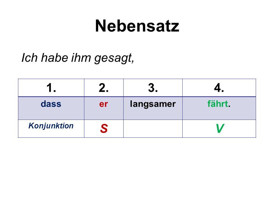 Übungen Schreiben Sie den Satz in der richtigen Reihenfolge.