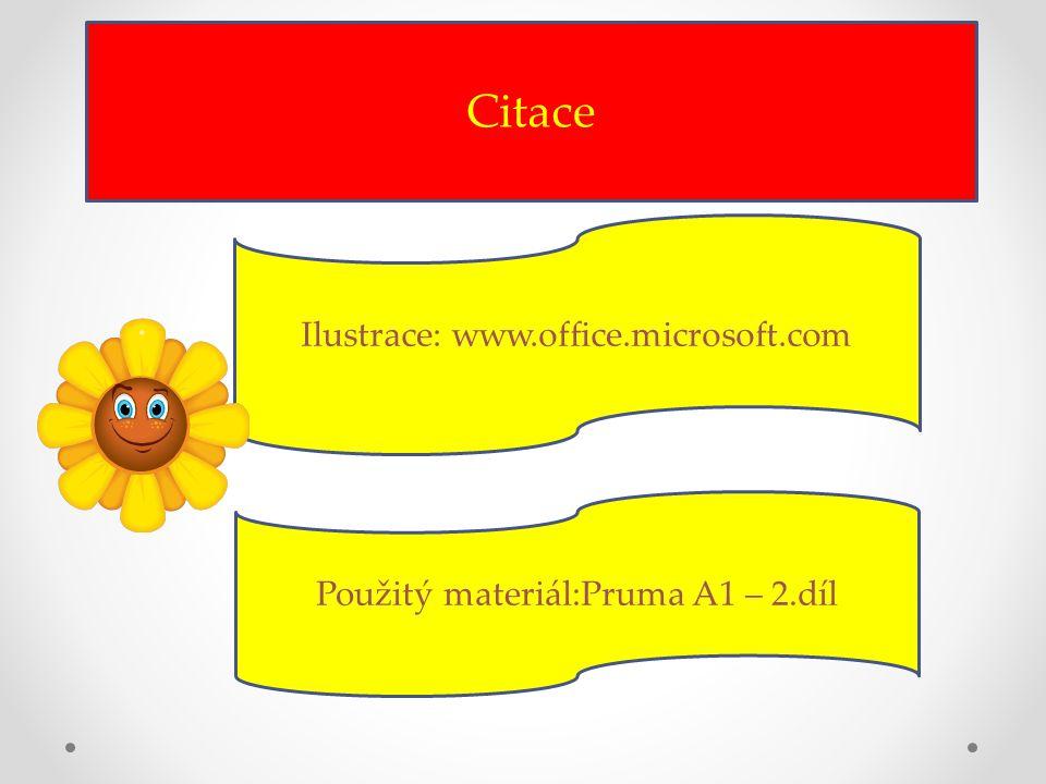 Citace Ilustrace: www.office.microsoft.com Použitý materiál:Pruma A1 – 2.díl