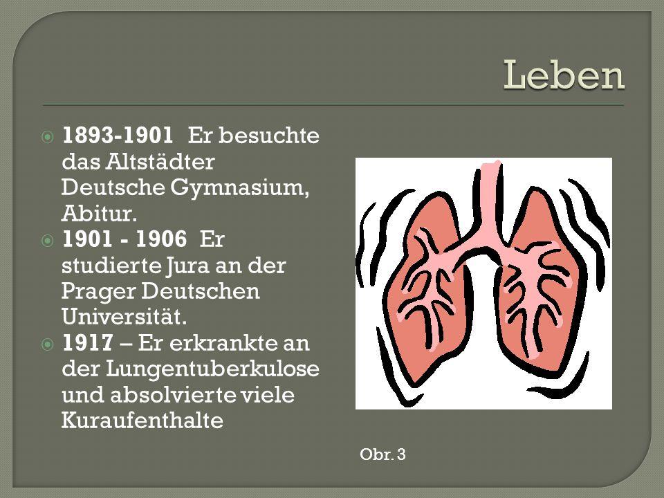  1893-1901 Er besuchte das Altstädter Deutsche Gymnasium, Abitur.
