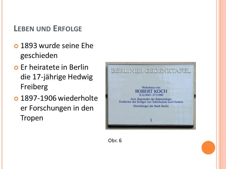 L EBEN UND E RFOLGE 1893 wurde seine Ehe geschieden Er heiratete in Berlin die 17-jährige Hedwig Freiberg 1897-1906 wiederholte er Forschungen in den Tropen Obr.