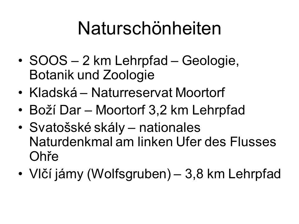 Sportmöglichkeiten Golfplätze - 3 Pferderennen - Karlsbad Plešivec – Seilbahn Klínovec – Skiareal – 7 Lifte, Skipisten aller Schwierigkeitsgrade Boží Dar (Gottesgab) – 9 Lifte, Snowpark