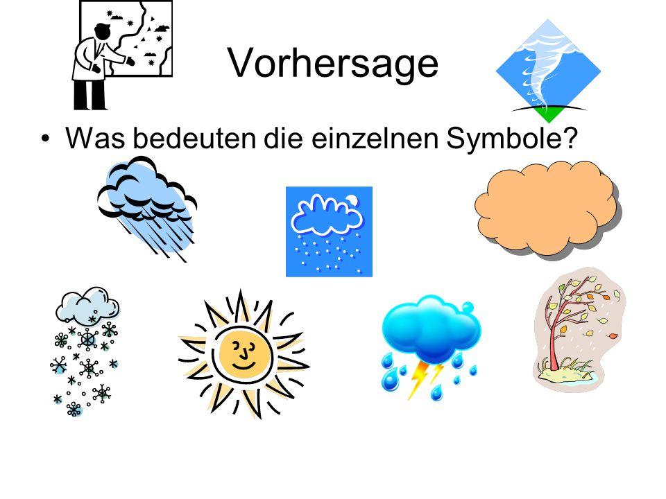 Vorhersage Was bedeuten die einzelnen Symbole?