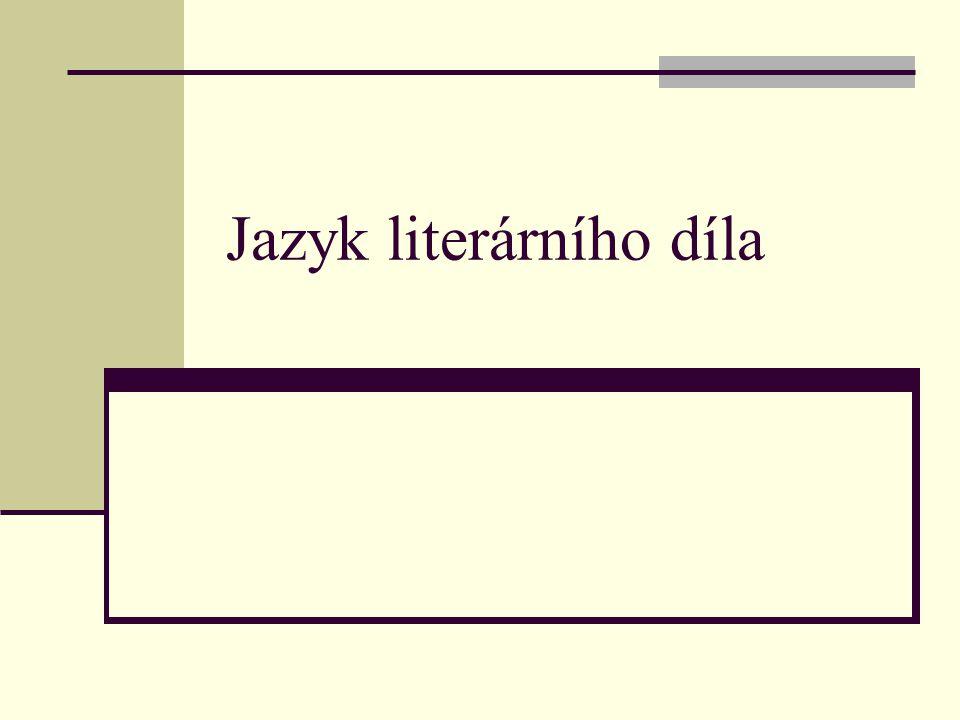 Jazyk literárního díla