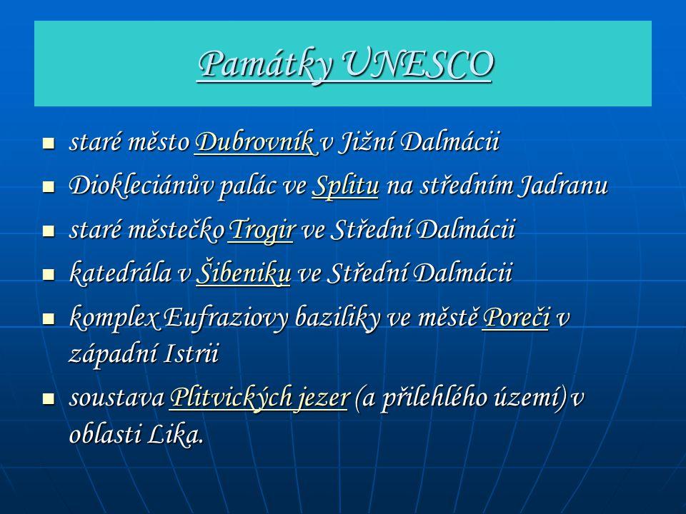Památky UNESCO staré město Dubrovník v Jižní Dalmácii staré město Dubrovník v Jižní DalmáciiDubrovník Diokleciánův palác ve Splitu na středním Jadranu