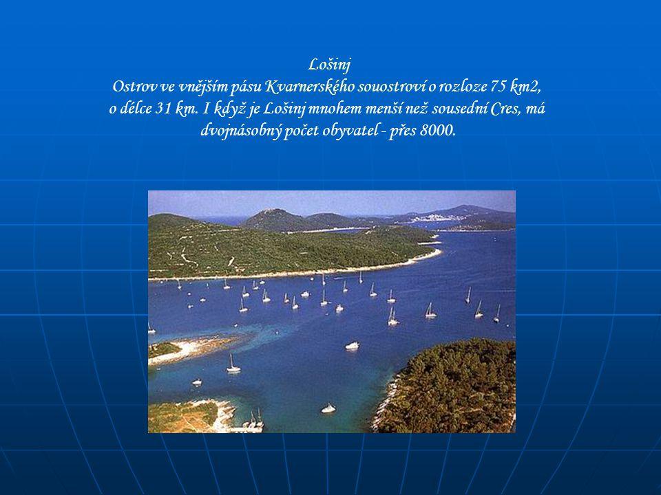 Lošinj Ostrov ve vnějším pásu Kvarnerského souostroví o rozloze 75 km2, o délce 31 km. I když je Lošinj mnohem menší než sousední Cres, má dvojnásobný