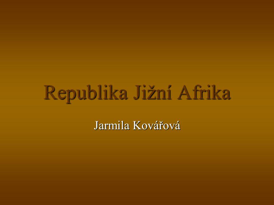Republika Jižní Afrika Jarmila Kovářová
