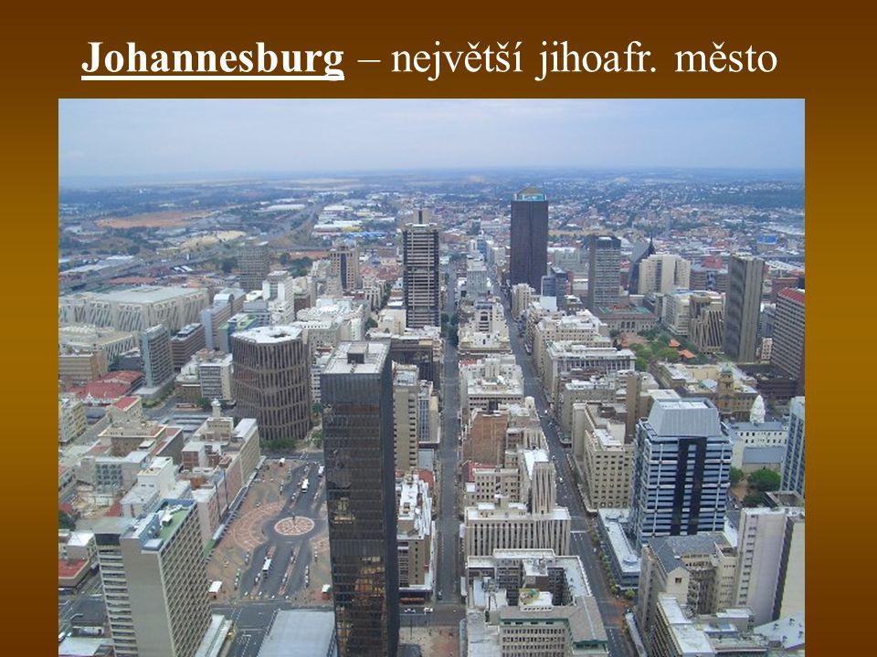 Johannesburg – největší jihoafr. město