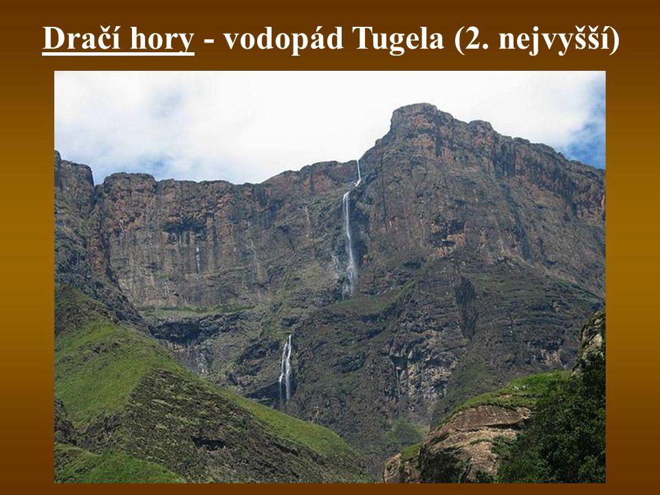 Dračí hory - vodopád Tugela (2. nejvyšší)