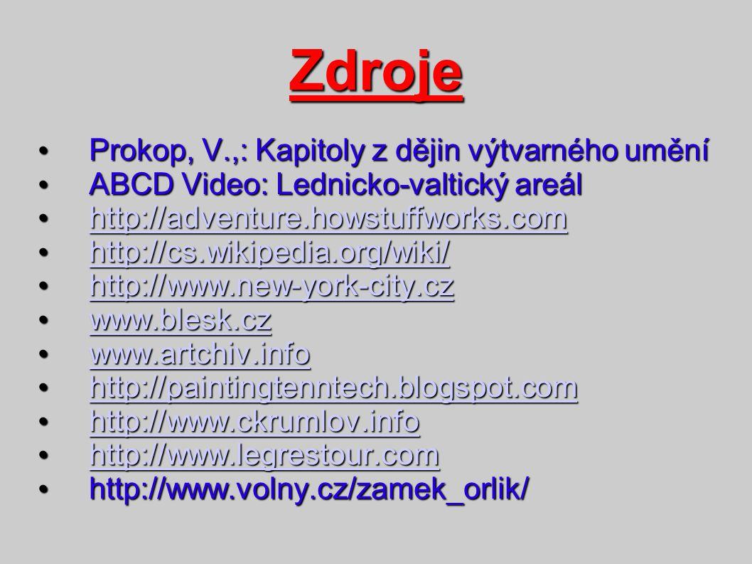Prokop, V.,: Kapitoly z dějin výtvarného umění Prokop, V.,: Kapitoly z dějin výtvarného umění ABCD Video: Lednicko-valtický areál ABCD Video: Lednicko