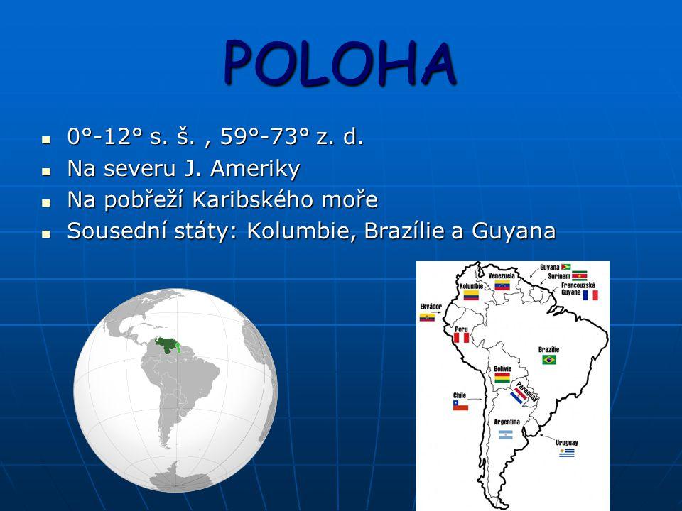 POLOHA 0°-12° s.š., 59°-73° z. d. 0°-12° s. š., 59°-73° z.