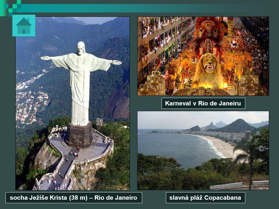 Karneval v Rio de Janeiru slavná pláž Copacabanasocha Ježíše Krista (38 m) – Rio de Janeiro