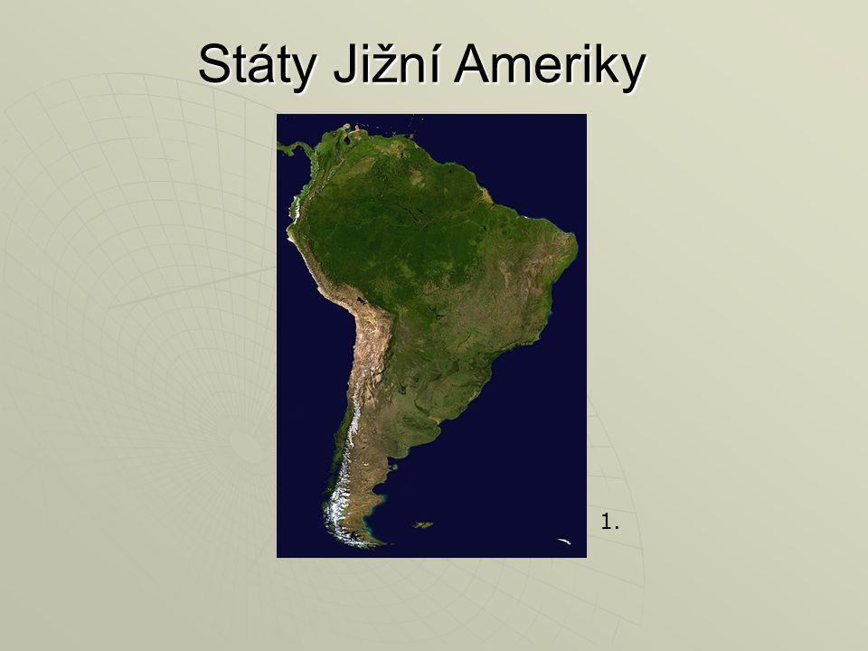 Státy Jižní Ameriky 1.