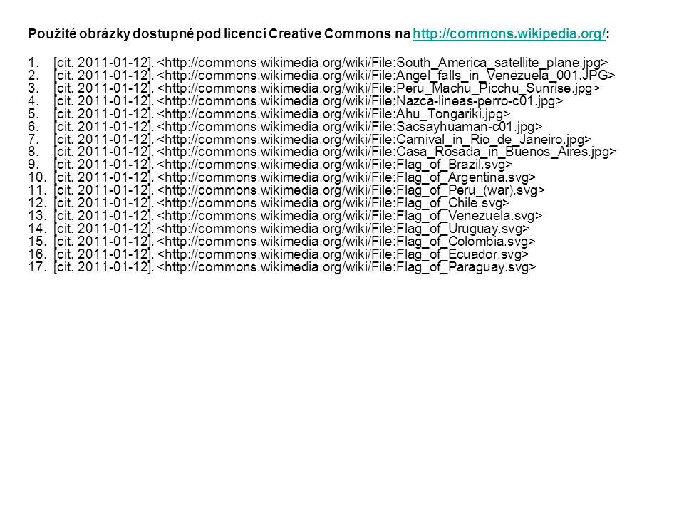 Použité obrázky dostupné pod licencí Creative Commons na http://commons.wikipedia.org/:http://commons.wikipedia.org/ 1.[cit.
