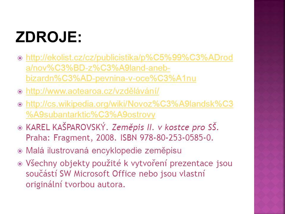  http://ekolist.cz/cz/publicistika/p%C5%99%C3%ADrod a/nov%C3%BD-z%C3%A9land-aneb- bizardn%C3%AD-pevnina-v-oce%C3%A1nu http://ekolist.cz/cz/publicisti