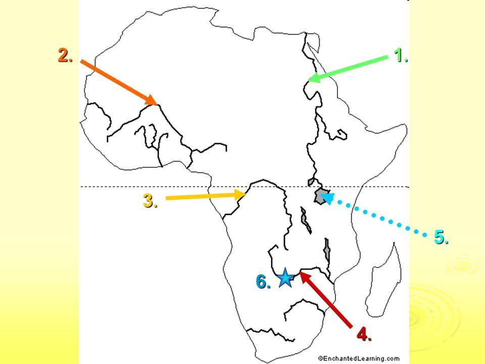 SPRÁVNÉ ODPOVĚDI Povrch: 1.Atlas 2. Sahara 3. Etiopská vysočina 4.