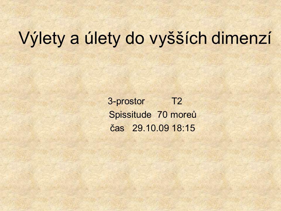 Výlety a úlety do vyšších dimenzí 3-prostor T2 Spissitude 70 moreů čas 29.10.09 18:15