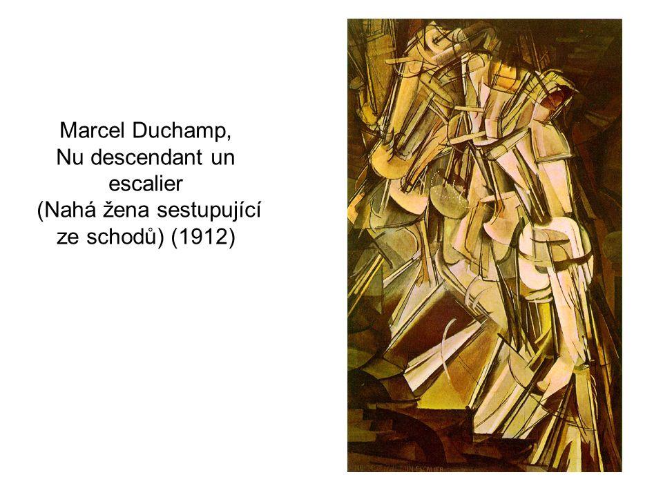 Marcel Duchamp, Nu descendant un escalier (Nahá žena sestupující ze schodů) (1912)