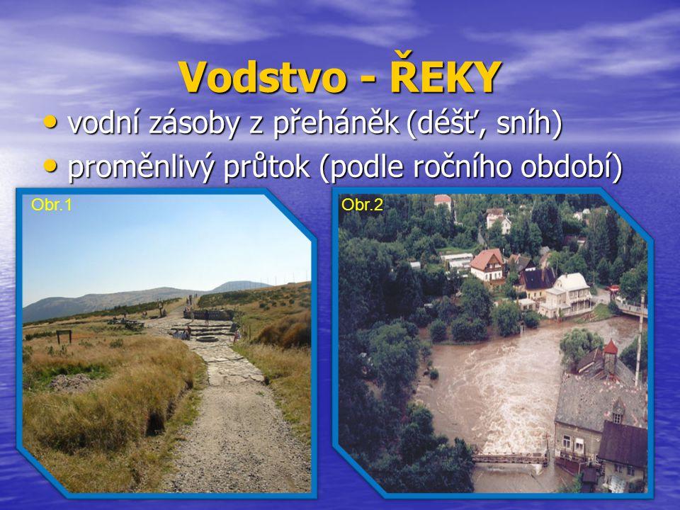 Řeka - LABE pramení v Krkonoších nejmohutnější česká řeka z ČR odtéká do Německa (sev.Čechy) přítoky  Úpa  Metuje  Chrudimka  Cidlina  Orlice (Tichá a Divoká)  Jizera  Vltava  Ohře  Bílina  Ploučnice.