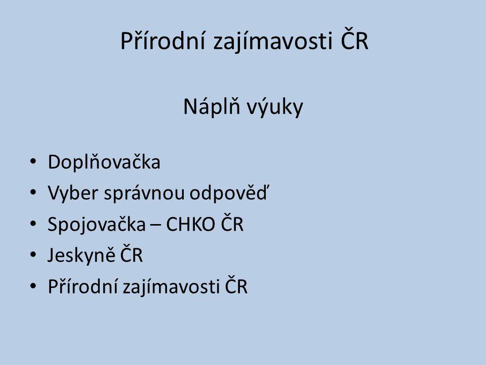 Doplňovačka 1.Nejdelší řeka ČR …………………..