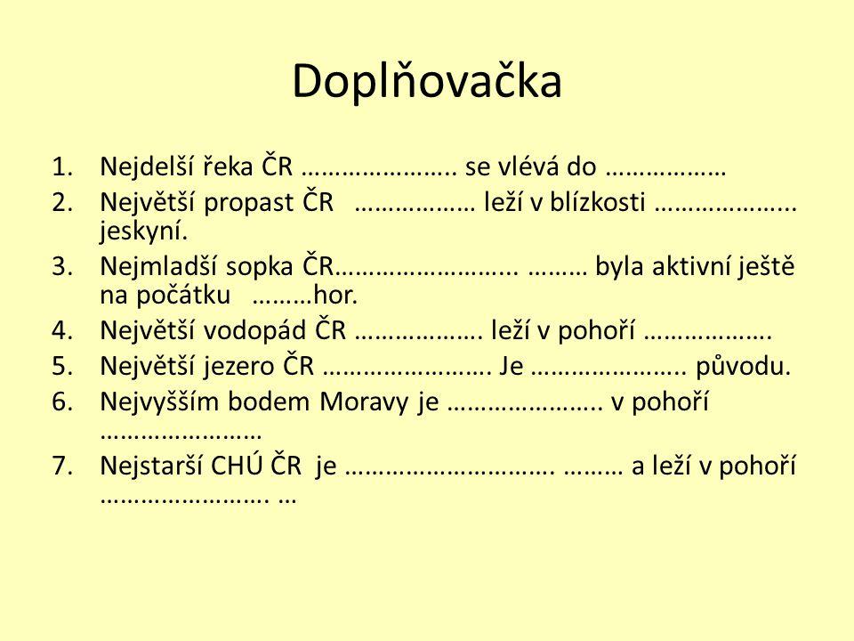 Vyber správnou odpověď Mezi jeskyně Moravského krasu nepatří: a.