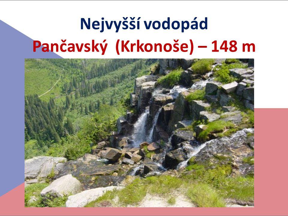 Nejvyšší vodopád Pančavský (Krkonoše) – 148 m